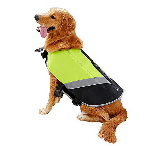 Chaleco salvavidas para perro de Doglemi, reflectante, de seguridad para perro, de alta visibilidad, impermeable, para cachorros, perros pequeños, grandes, nadar, surfear
