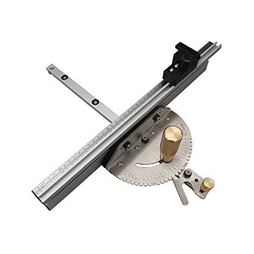 Präzisions-Winkelmesser Gehrungsfugenlehre Für Tischkreissäge Montage Lineal Winkelmesser 450 Mm, Einschließen Mitre Spur-Stop-Limiter Und Support (Kupfer Handle)