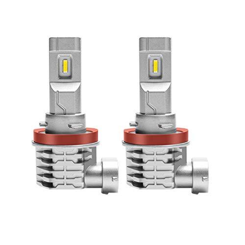 Bombilla H11 LED Coche 6500K H8 H9 H16 Faros Lámparas Para Coches 1: 1 Diseño, Reemplazo De Luz Halógena y Faros De Xenón Color Blanco(2pcs)