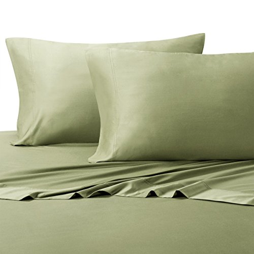 Royal Tradition 100 Percent Bamboo Bed Sheet Set, Queen, Solid Sage, Super Soft and Cool Bamboo Viscose 4PC Sheets