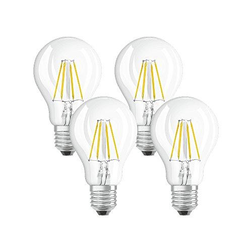 Osram LED-Lampe | Sockel E27 |Warm White (2700 K) | ersetzt Glühlampen mit 40 W | 4,00 W | Klar | LED Retrofit CLASSIC A