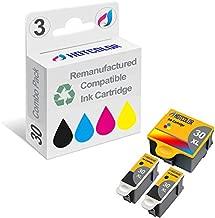 HOTCOLOR 3 PK Compatible Kodak 30XL Inkjet Cartridges for Kodak ESP C310 ESP 3.2 ESP C315 ESP C110 ESP 2170 ESP 2150 Hero 5.1 Hero 3.1 Hero 4.2 Printers
