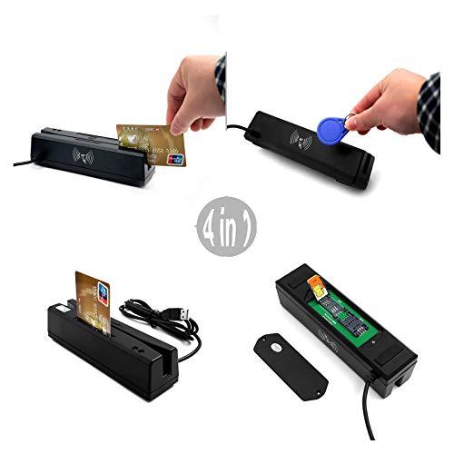 Lettore di schede magnetiche, di interfaccia con carta di credito RFID EMV chip IC PSAM produttore del lettore di 0.1S lettura Driver Writer USB libera con Win7 / 8 Win2008 / 03/00 Linux Plug gioco,L