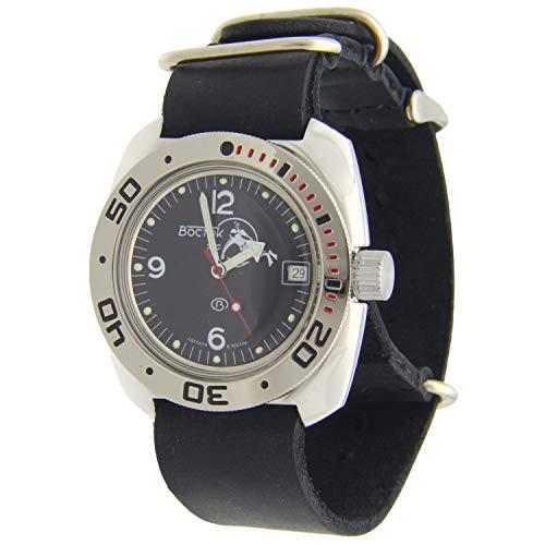 Vostok Amphibian #710634 Scuba Dude Automatik Diver Armbanduhr LB