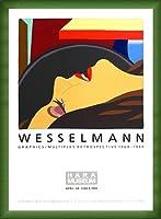 ポスター トム ウェッセルマン Graphics/Multiples 額装品 ウッドベーシックフレーム(グリーン)