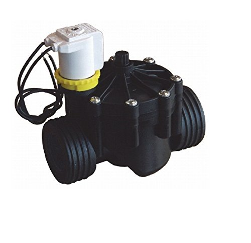 RPE eléctrica betätigtes–Válvula magnética (Rosca Interior de 224Vac con Flow de Control, Negro, 17x 18x 12cm, nd640
