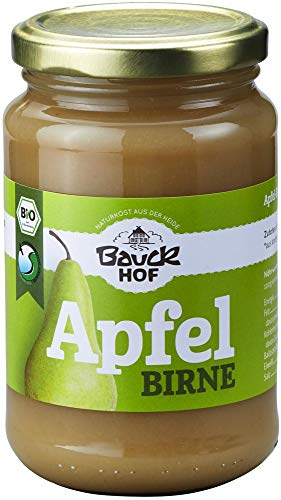 Bauckhof Bio Apfel-Birnenmark ungesüßt Bio (6 x 360 gr)