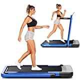 ANCHEER Treadmill,2-in-1 Under-Desk Treadmill for Home,Electric Folding Treadmill with App & Remote Control, LED Display, Indoor Walking Running Exercise Machine Simple Assemble