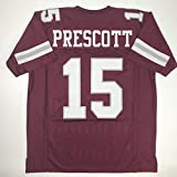 Unsigned Dak Prescott Mississippi State Red Custom Stitched College Football Jersey Size Men's XL New No Brands/Logos