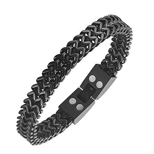 SSZZ Elegante Magnetische therapy armband voor heren, pijnverlichting voor artritis en carpaal tunnel, magneet, breedte titanium sieraad