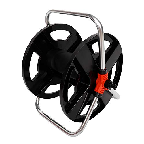 Fdit Portable Hose Cart Water Pipe Storage Rack Hose Reels Garden Watering Tool Accessories for 20m Water Hose