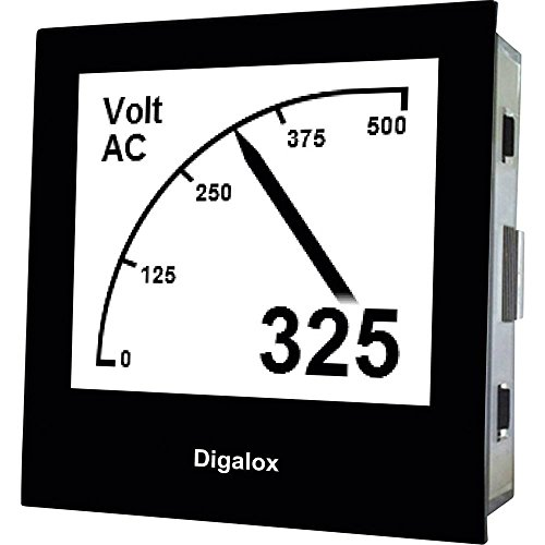 TDE-INSTRUMENTS Digalox DPM72-AV Digitales Einbaumessgerät Grafisches DIN-Messgerät für Volt und