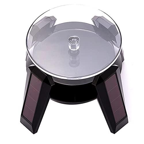 SHANJ Présentoir Rotatif Solaire de 9cm/3,5pouces, Plateau Tournant à 360 ° pour Bijoux/Produits Photographiques/Montres/Tasse, Charge 1kg/2.2lbs