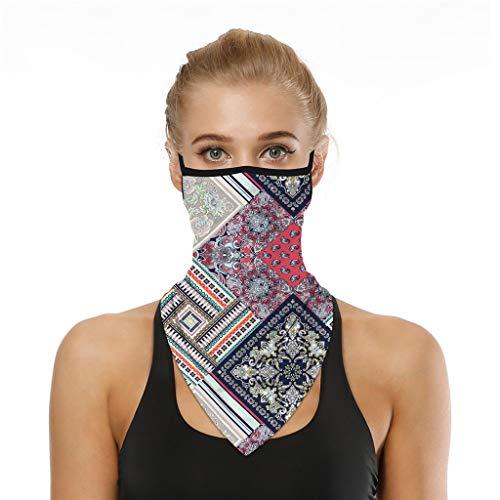 BIBOKAOKE Schlauchschal Multifunktionstuch Halsschlauch Halstuch Unisex Mundschutz Staubdicht Sommer Gesichtstuch Drucken UV-Schutz