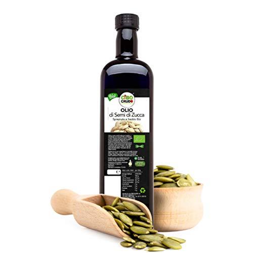 CiboCrudo Olio di Semi di Zucca Bio, Alimentare Spremuto a Freddo, Austriaco, Puro e Naturale al 100%, Naturalmente Privo di Glutine, Senza Sale Aggiunto – 250 ml