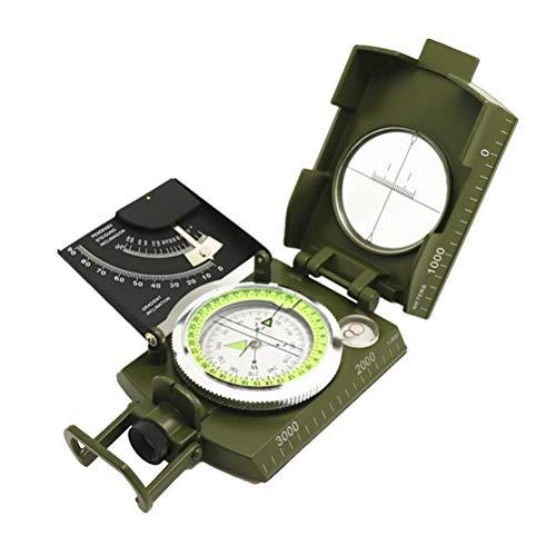 LIOOBO Kompass Multifunktionaler, schlagfester und wasserdichter Visier-Navigationskompass für Outdoor-Wanderungen Camping-Fahrten