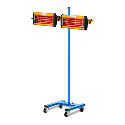 MSW Lacktrockner Infrarot Trockner Strahler IR-DRYER2000.2 (2200 W, 2 Strahler, 40–100 °C, Trocknungsfläche 800 x 800 mm, Max. Höhe 213,5 cm, Timer 1–60 min)