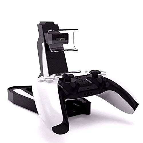 LINANNAN Producto Nuevo Controlador de Carga PS5, Playstation 5 controla Dos Asientos PS5 Juego Cargador de Controlador, Tipo de Puerta C Recarga,Blanco
