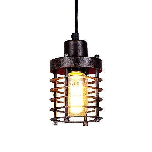 Licht Kroonluchters, Eigentijdse Moderne hanglamp Black Metal Cage Kroonluchter Ronde, for eetkamer, keuken, Foyer