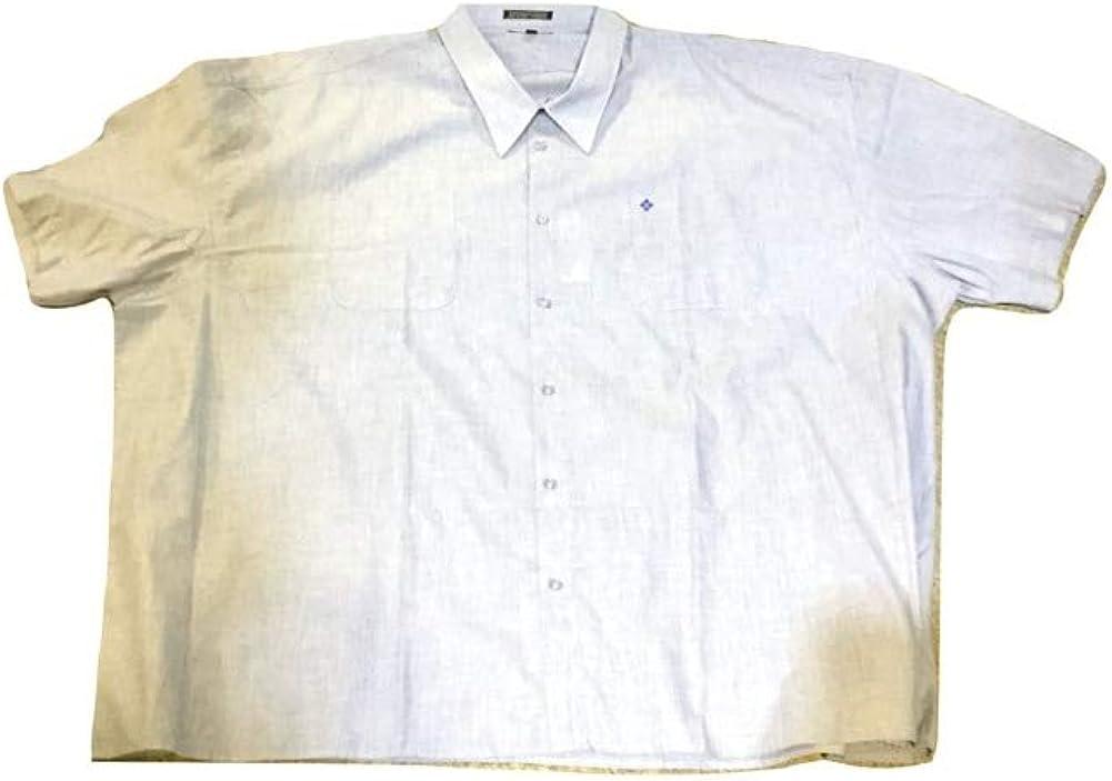 Falcon Bay Big and Tall Premium Wrinkle Free Two Pocket Square Bottom Blue Shirt