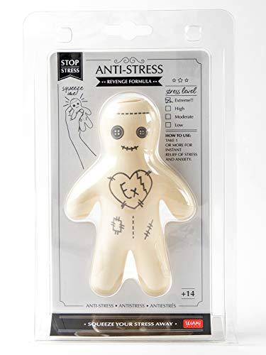 Muñeco antiestrés, diseño de muñeco vudú con la inscripción «Ex»