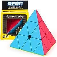 Bokefenuo QiYiQiMingピラミッドステッカーレスマジックキューブMoFangGeQiMingピラミッドステッカーレススピードキューブ