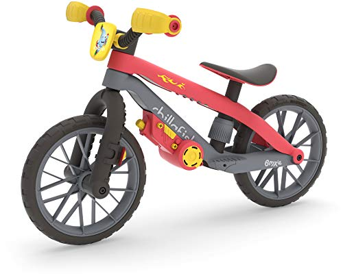 Chillafish BMXie Moto - 12' Balance trainer with real 'vroom vroom' motor sounds as you ride Red