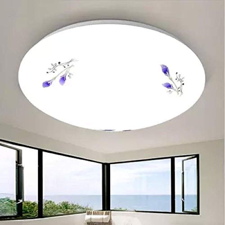 Moderne LED Deckenleuchte einfache runde Acryl Deckenleuchte dimmbare Innenbeleuchtung