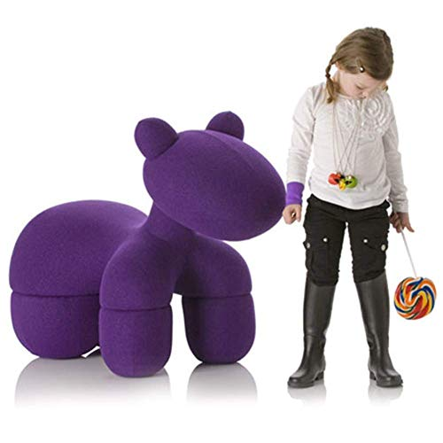 HEWEI Children's Sofa Chair Stool Pony Shape Footstool Ottoman Home Creative Shoes Bench Children's Best Birthday Purple
