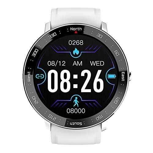 QFSLR Smartwatch Pulsera Actividad Inteligente con Monitor De Frecuencia Cardíaca Monitor De Presión Arterial Seguimiento del Sueño Calorías Podómetro para Hombres Y Mujeres,Blanco