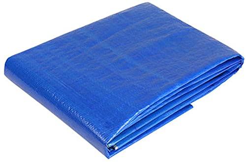 MVNZXL Abdeckplanen,Blaue Mehrzweck-UV-beständige PE-Plane, strapazierfähige wasserdichte Plane, für Zelte, Landschaftsbau, Boote und Wetterschutz(Color:Blue;Size:2x5m)