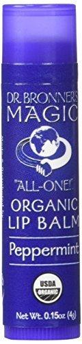 Dr. Bronner's Magic Soaps, Organic Lip Balm, Peppermint, 0.15 oz (4 g) by DR. BRONNER'S