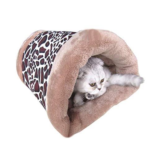 2 In 1 Zelfverwarmende Kat Bed Tunnel En Mat Zachte Gezellige Thermische Isolatie Lagen Wasbaar, Gemakkelijk Te Bewaren