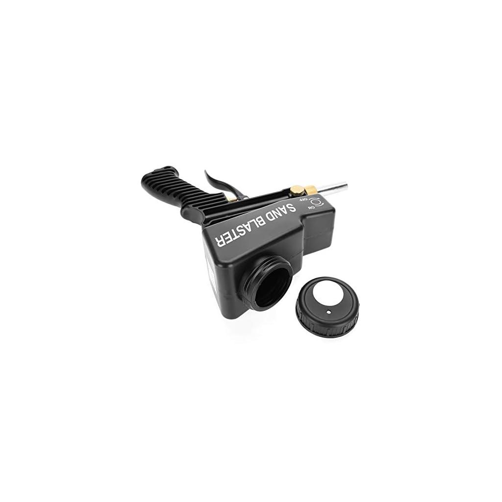 Pistolet de sablage pneumatique réglable avec manuel anglais pour éliminer la rouille, la peinture, l'huile, etc.(black)