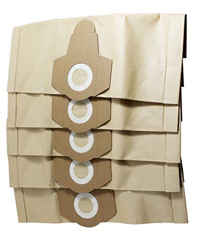 Sparegetti Einhell Lot de 5 sacs en papier pour aspirateur humide et sec - 12 l, 15 l, 20 l