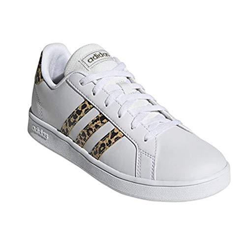 adidas Grand Court K, Zapatos de Tenis, FTWR White FTWR White Champagne Met, 37 1/3 EU