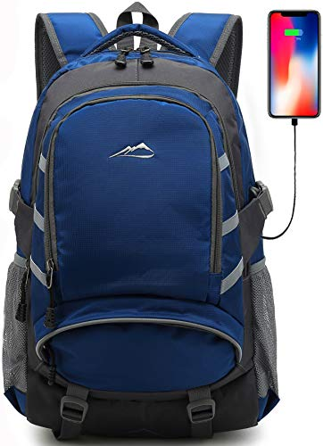 ProEtrade Backpack Daypack for School College Laptop Travel, Computer Bookbag Bag with USB Charging...