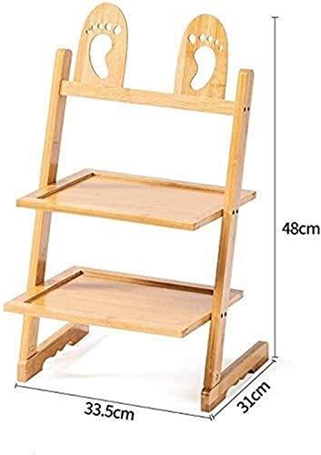 QZMX Estante de Zapatos Zapatero de bambú Natural Zapatero, Simple y pequeño Estante del Zapato en el hogar, Creativo Rack de Almacenamiento de Calzado for Mini compartida, Estante (Size : A)