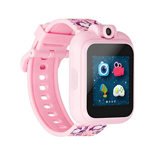 PlayZoom Kids Digital Smartwatch with Selfie Camera, Video Recorder, and Interactive Educational Games, Birthday Gift for Boys and Girls (Pink Unicorns)