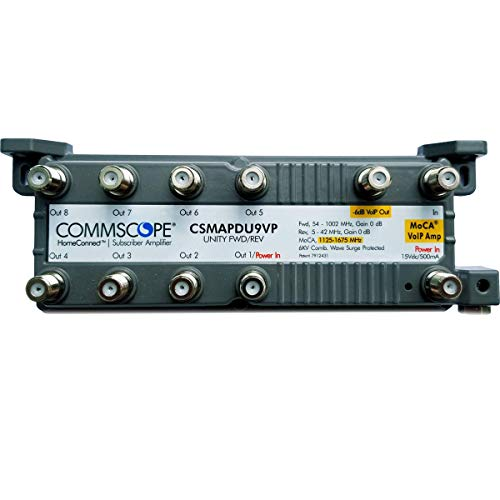CommScope CSMF1APDU9VPI HomeConnect 9-Port Passive VoIP MoCA Amplifier for Comcast, Xfinity, RCN, Optimum, Wow, COX, Spectrum