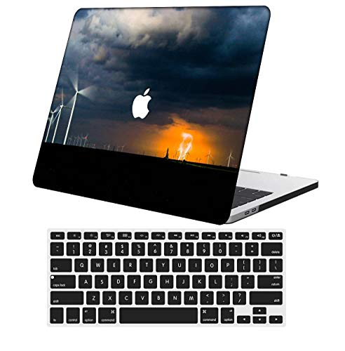 NKDCase Case for MacBook Air 13 inch Model A1369/A466 Cut Out Design,Plastic Ultra Slim Light Hard Case Keyboard Cover Compatible MacBook Air 13 Inch 2010-2017 Release No Touch ID,Sky Series 0768