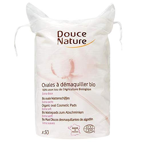 DOUCE NATURE - 50 Disques Ovales À Démaquiller Coton - Lot De 4