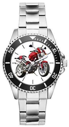 Geschenk für Ducati Monster Motorrad Fahrer Fans Kiesenberg Uhr 20310