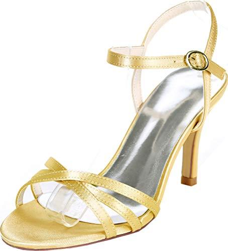 Sandalias de tacón para mujer, cómodas, para boda, fiesta, gatito, con correas...
