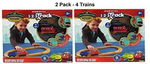 Wooden Train Set - Rides The Rails Beginner Train Track Set That's Easy to Assemble, The Ultimate Railway Toy for Toddlers - Tracks Fits Most Train Sets (2 Pack)