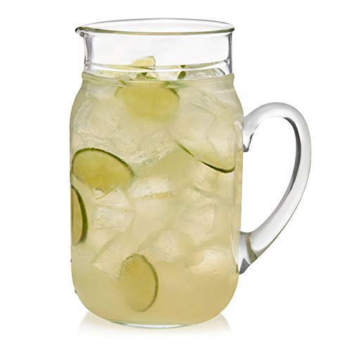 Libbey Drinking Jar Glass Pitcher, 80-ounce