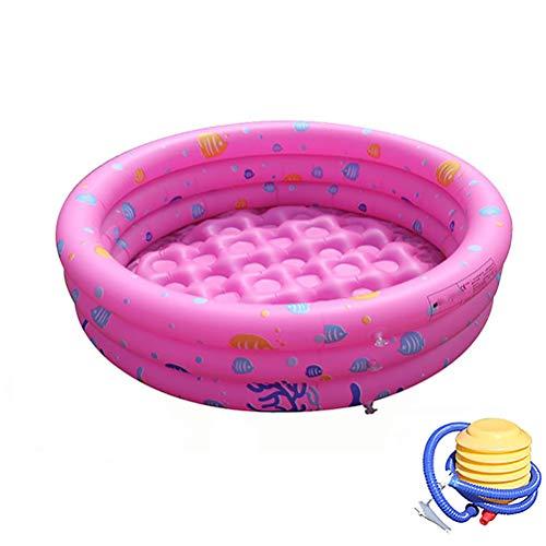 Portable opblaasbaar zwembad met pomp voor de zomer Partij van de Familie opblaasbaar kinderzwembad Bad Kids Oceaan Ball Pool,Pink,100cm