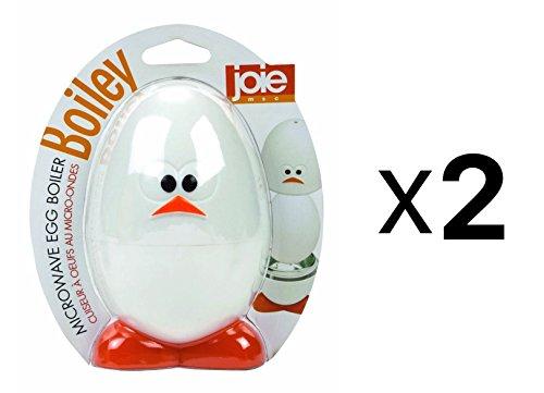 Joie MSC Boiley Plastic and Aluminum Microwave Egg Boiler (2-Pack)
