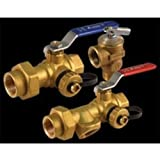 Made of lead-free brass Includes cold inlet and hot outlet valves Includes 1 pressure relief valve