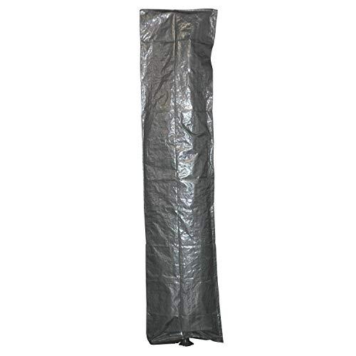 Moritz beschermhoes grijs voor parasol tot een diameter van 3 meter met ritssluiting en stok 210 x 45 cm scherm paraplu tuinmeubelen beschermfolie
